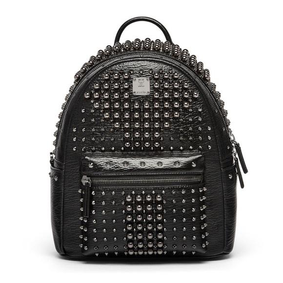 MCM Bags | Stark Pearl Studded Bookbag |