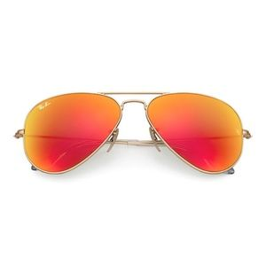 Ray Ban aviator flash lenses with silver frames