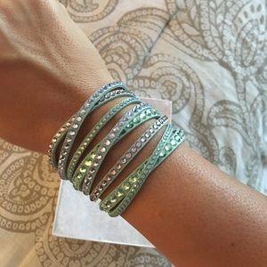 Swarovski double wrap bracelet. Brand new.