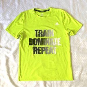 Adidas Lime Green Short Sleeve Statement Tee Shirt