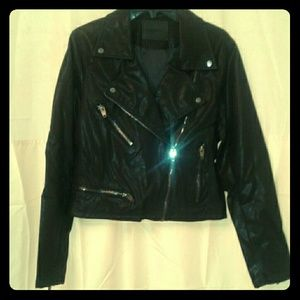 NEW Blank NYC Faux Leather Moto Jacket L Large