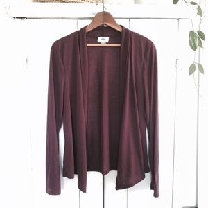 🆕 Burgundy open cardigan