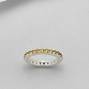Jewelry - Citrine Eternity Band Ring
