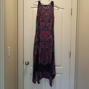 Reborn brand handkerchief hem maxi dress, size L