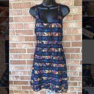 Hurley striped printed dress medium