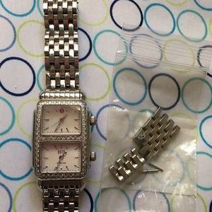 Authentic Michele 2 Face Dial Diamond Watch