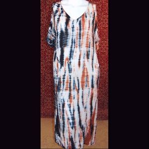 NEW SOFT SURROUNDINGS rust kaftan maxi dress M
