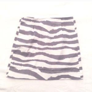 ❣BOGO 1/2 off❣🆕 J. Crew zebra striped mini skirt