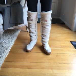 Hunter ugg style leather over the knee boots