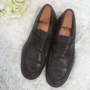 J. Crew Brown Penny Loafers Size 11.5