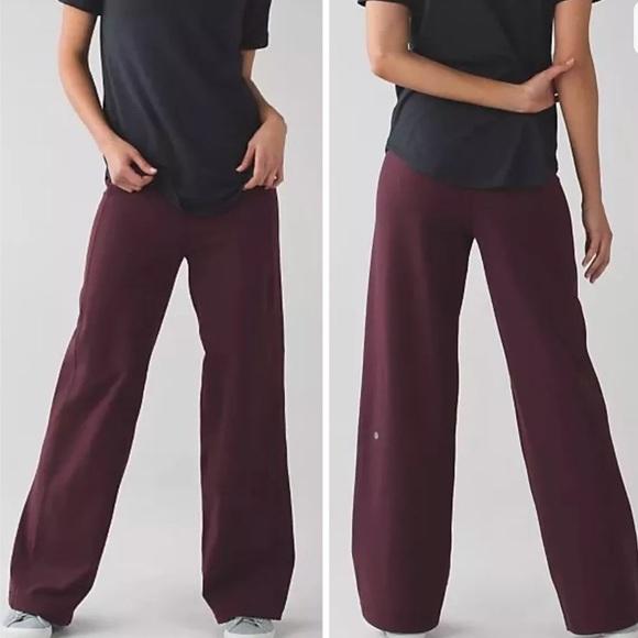 5db031902 lululemon athletica Pants - LULULEMON SIT IN STILLNESS PANT red grape 2
