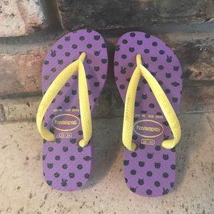 Purple Havaianas Flip Flops