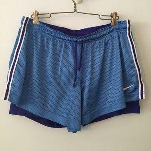 Nike 2 in 1 dri fit shorts