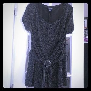 Sparkling collection black tie tunic