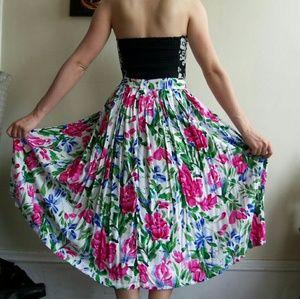 Vintage Floral Watercolor Skirt