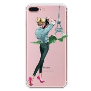 IPHONE 7 8 X XS  NEW CASE PARIS BLONDE TRAVEL GIRL