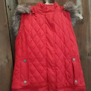 Maurices Red hooded puffy vest