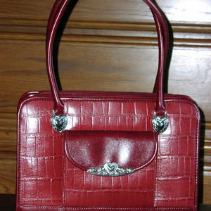 Handbags - Leather Faux Croc Handbag Purse