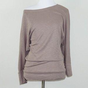 Cynthia Rowley Tan 3/4 Sleeve Top