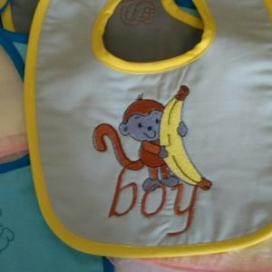 Adorable Monogrammed Baby Bibs for Boy and Girl
