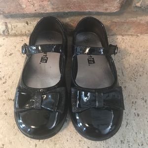 Black patent leather toddler black shoes