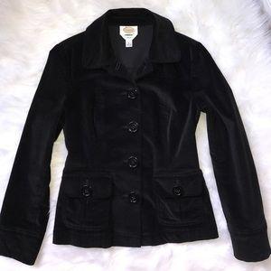 Velvety Black Talbots Pea Coat 4