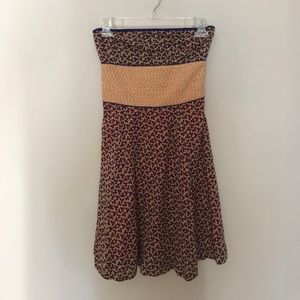 Free people cotton strapless dress