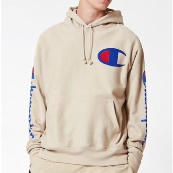 e7081850d4c9da Champion Tops - Champion - Reverse Weave Tan Pullover Hoodie