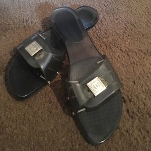 Authentic Chanel slides US size 9-9.5