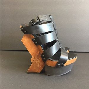 UN UNITED NUDE Funky Black Gladiator Sandals