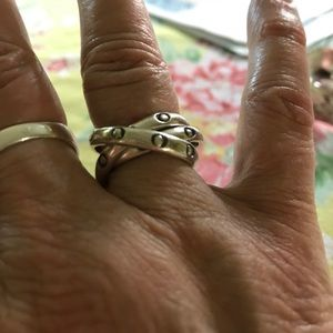 Jewelry - Three part sterling silver Mexican ring