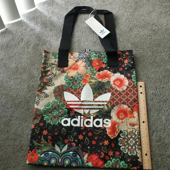 2879952ba0a adidas Bags | Sale Farm Jardim Agharta Floral Shopper Bag | Poshmark