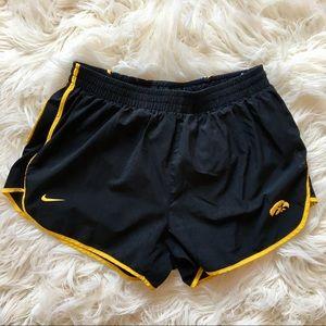 Nike Fit Black Running Shorts Iowa Hawkeyes Size M