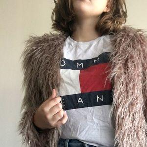 Tan fur coat