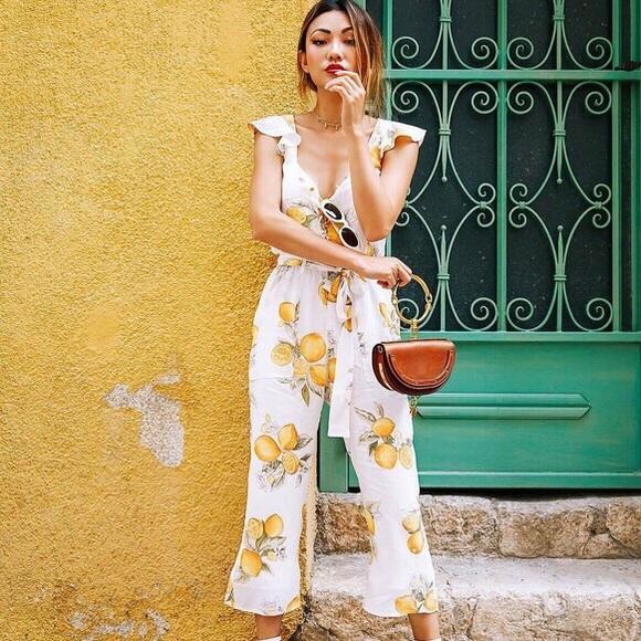 233cd2199e15 For Love And Lemons Pants   For Love Lemons Limonada Onesie   Poshmark