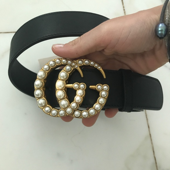 c5f04b96e6f Gucci Accessories - Gucci Marmont GG pearl belt 80