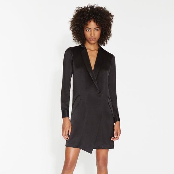 891ff43d0f68 Halston Heritage Dresses | Nwt Satin Tuxedo Dress 2 | Poshmark