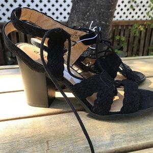 Diba Gladiator Block heel sandals sz 8.5