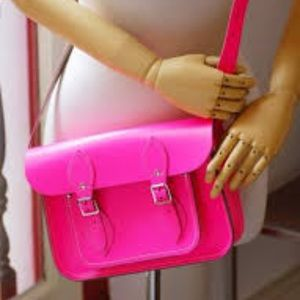 Cambridge satchel company hot pink bag