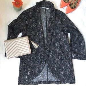 Lush Urban Outfitters Blazer draped patterned Sz L