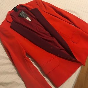 NWT Marc By Marc Jacobs Red Blazer w/ Berry Lapels