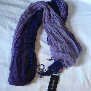 Ombré purple Express scarf