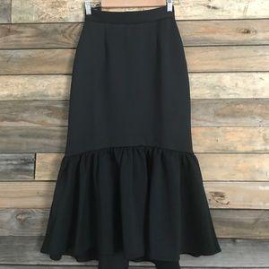 NWT Asos black pencil skirt with peplum hem.