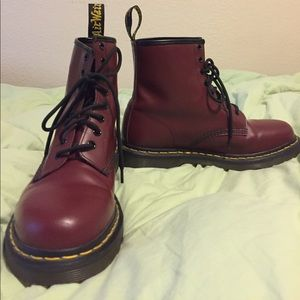 Dr Martens 1460 Cherry Red 8 eye boots