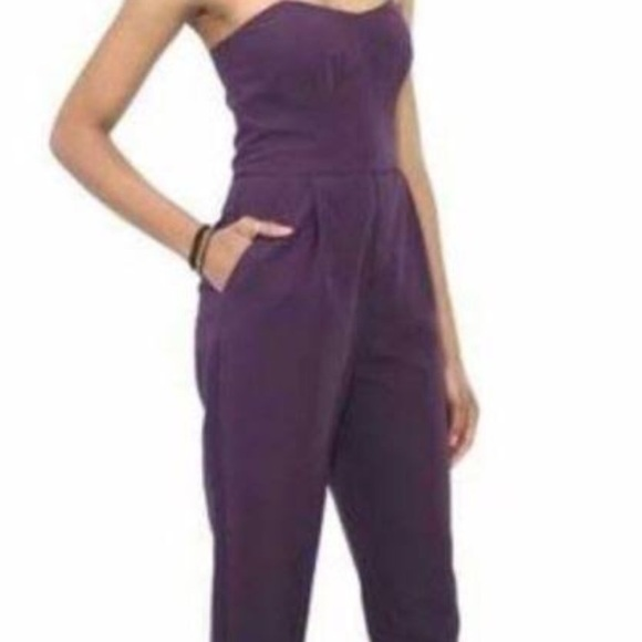 0f31eaf659c8 RACHEL ROY PURPLE STRAPLESS JUMPSUIT WITH BONING. M 59bc4fb4b4188e556e00e757