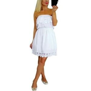 Dresses & Skirts - Off the shoulder A line white lace dress