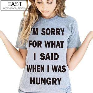 Tops - I'm sorry t-shirt