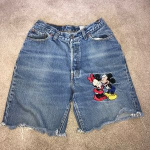 Vintage High Rise Mickey & Minnie Cut Offs