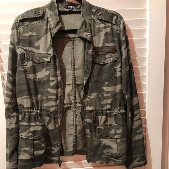 e4fefed4f558c Express Jackets & Blazers - EXPRESS camo silky soft twill military Jacket