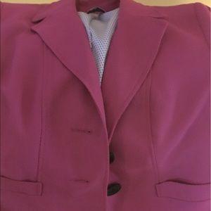 Raspberry jasper blazer